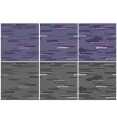 set brick wall texture seamless 3 step drawing vector image