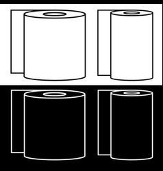 set of toilet paper and paper towel symbols vector image