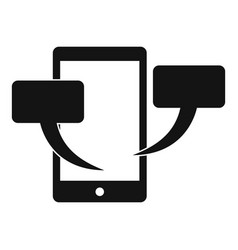 smartphone chat icon simple style vector image