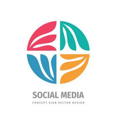 Social media concept business development logo vector