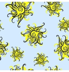 Sun Seamless Background vector
