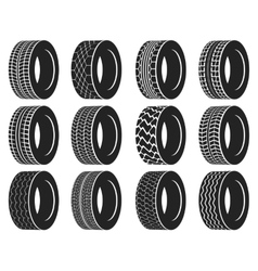 Tire or wheel for truck bus automobile tyre vector image