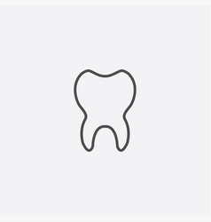 tooth outline icon vector image