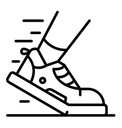Triathlon shoe icon outline style vector
