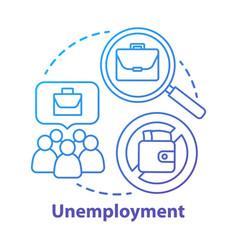 Unemployment concept icon poverty idea thin line vector