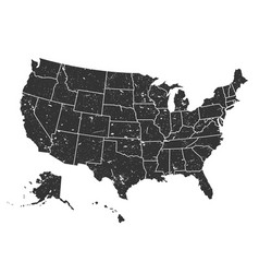 united states america map grunge style vector image