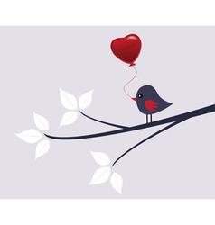 valentine bird vector image