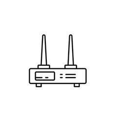 Wifi router icon outline of wifi router icon for vector