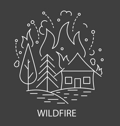 wildfire natural disaster vector image