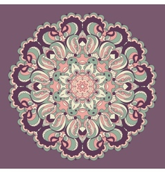Beautiful purple arabesque lace pattern background vector image vector image