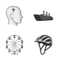 Bicycle business medicine and other monochrome vector