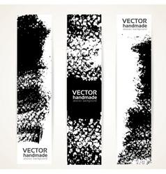 Black ink strokes banner set vector image vector image