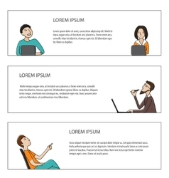 Business people banners set vector image vector image