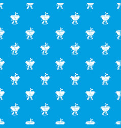 fish soup on a fire pattern seamless blue vector image vector image