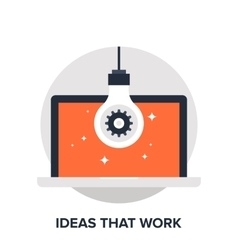 ideas that work vector image vector image