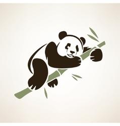 panda isolated symbol vector image vector image