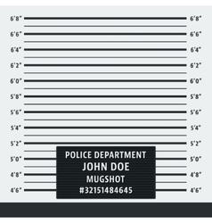Police mugshot background vector