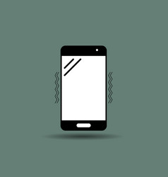 mobile icon flat style vector image