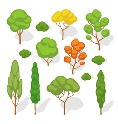 Set of the trees vector image vector image