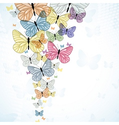 Abstarct background with colorfull butterfly vector image