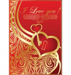 abstract valentine card with hearts vector image vector image