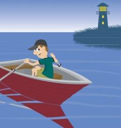 boat ride vector image vector image