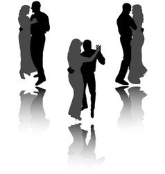 dancing couple vector image vector image