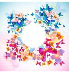 elegant butterfly frame vector image