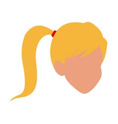 head girl character icon vector image