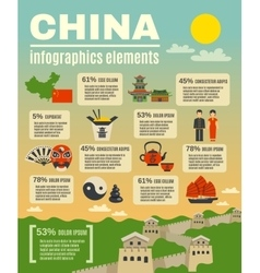 Infographic presentation poster on chinese vector