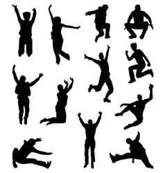 jumping 2 vector image