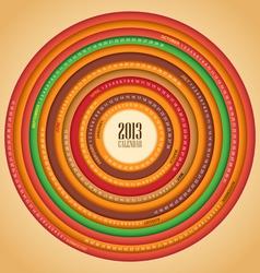 Retro swirl 2013 calendar vector image
