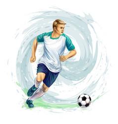 soccer player ball vector image
