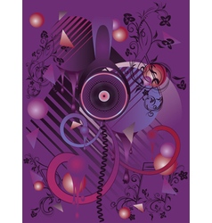Stylized Music Poster2 vector image vector image