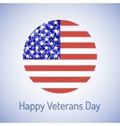 Veterans day card vector