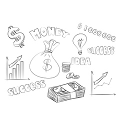 business sketchy set vector image