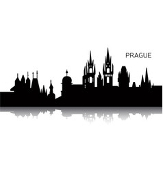 cityscape of prague vector image vector image