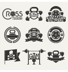 Cross Fitness and GYM logo vector image vector image