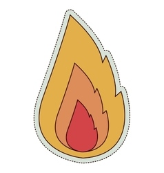 Orange and red fire design vector image