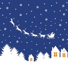 santa outdoor white vector image
