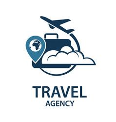 travel logo image vector image