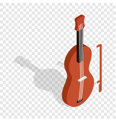 violin isometric icon vector image