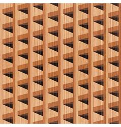wooden building vector image vector image