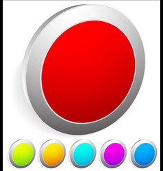3d buttons pins badges with empty space red green vector image