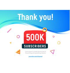 500000 followers post 500k celebration vector