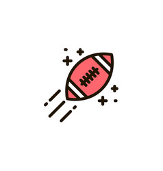 A rugby ball on a white background vector