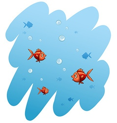 A school of fishes vector image