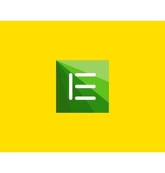 Abstract letter e logo design template vector
