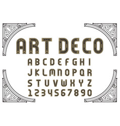Art deco creative font vector
