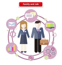 Balance Between Work and Family Life vector image